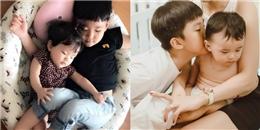Khoảnh khắc chăm em cực đáng yêu của nhóc tỳ nhà sao Việt