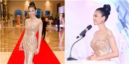 Á hậu Trương Thị May diện váy lộng lẫy, dự sự kiện ở Campuchia