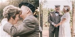 Cảm động câu chuyện 60 năm sống chung một nhà, cặp vợ chồng già mới có bộ ảnh cưới đầu tiên