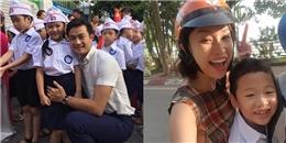 Sao Việt nô nức đưa con tới trường khai giảng năm học mới