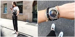 yan.vn - tin sao, ngôi sao - Sau set đồ 900 triệu, Hoa hậu Kỳ Duyên lại khoe đồng hồ tiền tỉ ở Milan