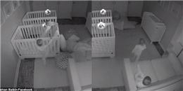 Thay vì ngủ, cặp song sinh đã 'tẩu thoát' khỏi nôi và 'quậy' tưng bừng trong đêm