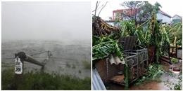 Bão số 10 gây thiệt hại nặng nề: 12 người chết và bị thương, nhiều nhà cửa bị sập và tốc mái