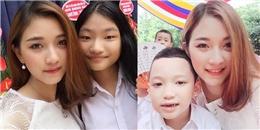 Vẻ xinh đẹp, duyên dáng khi chăm sóc trẻ nhỏ của cô giáo 9x vẫn tiếp tục gây sốt cộng đồng mạng