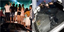 Vũng Tàu: Không có chỗ đứng, nhóm thanh niên trèo hẳn lên nóc ô tô để 'quẩy'