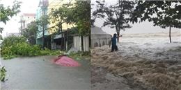 Những hình ảnh thiệt hại ban đầu do cơn bão số 10 gây ra: Miền Trung lại oằn mình trong bão