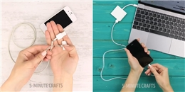 Mẹo dùng dây sạc điện thoại mãi không hư