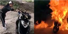"""""""Dậy sóng"""", cô gái phát ngôn bừa bãi, đốt xe dưới gầm cầu ở Sài Gòn"""