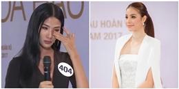 Hoàng Thùy bật khóc khi bị Phạm Hương chất vấn ở Hoa hậu Hoàn vũ Việt Nam 2017