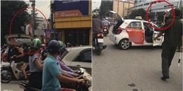 Hà Nội: Tài xế leo lên nóc xe, khoe mới đi tù về để 'ăn vạ' khi bị CSGT dừng xe