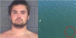 Nhảy xuống biển trốn cảnh sát, tên tội phạm đen đủi đụng ngay cá mập