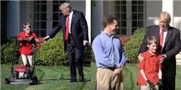 Cậu bé 11 tuổi thực hiện ước mơ cắt cỏ tại Nhà Trắng, được tổng thống Donald Trump gửi lời cảm ơn