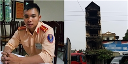 Phút giây chiến sĩ CSGT tay không trèo lên tầng 4 phá 'chuồng cọp' cứu 5 người trong đám cháy