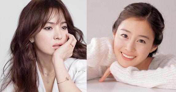 """Ngọc nữ"""" Song Hye Kyo """"lép vế"""" trước Kim Tae Hee trong danh sách các mỹ nhân đẹp nhất Hàn Quốc"""