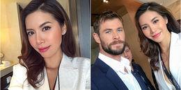 Minh Tú diện vest trắng, cực quyến rũ sánh vai bên 'Thor' Chris Hemsworth ở Úc