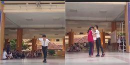 Nam sinh nhảy trên nền nhạc 'Đưa em đi khắp thế gian' giữa sân trường tặng bạn gái ngày sinh nhật