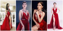 Đại diện Việt Nam ở Miss Earth 2017 'đụng' váy loạt mỹ nhân Việt: Ai hơn ai?