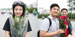 Đường phố Hà Nội ngập tràn sắc hoa ngày 20/10: người háo hức chọn hoa, người hạnh phúc nhận hoa