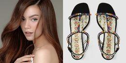 Sau giày độn 20cm, Hồ Ngọc Hà tiếp tục nổi bật với giày lấp lánh
