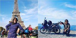 Chàng trai trẻ gây sốc khi phượt xe máy 20.000km từ Sài Gòn đến Paris