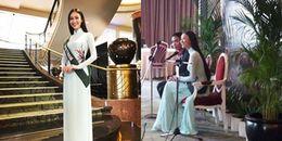 Đại diện Việt Nam tự tin trả lời phỏng vấn giám khảo bằng tiếng Anh tại Miss Earth 2017