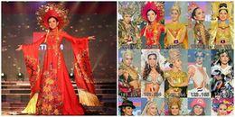 Huyền My xuất sắc vươn lên vị trí thứ hai phần thi Trang phục dân tộc