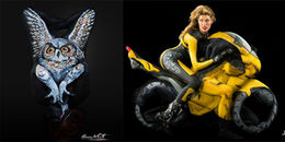 Đỉnh cao của nghệ thuật body painting là đây: tạo nên động vật, xe hơi từ cơ thể người