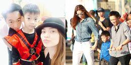 Sau đính hôn cùng Đàm Thu Trang, Cường Đôla 'tái hợp' Hồ Ngọc Hà đưa Subeo đi học