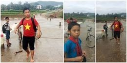 Sợ muộn giờ học, học sinh cấp 2 mặc áo ướt đến trường sau khi cứu bạn bị nước cuốn