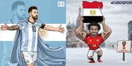Biếm hoạ World Cup 2018: Gọi tên 'Thánh sống' Lionel Messi