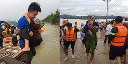 Ấm lòng với những khoảnh khắc đầy tình người trong mưa bão