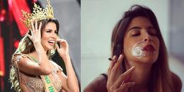 Tân Hoa hậu Hòa bình quốc tế 2017 gây xôn xao với hình ảnh 'phì phèo' thuốc lá