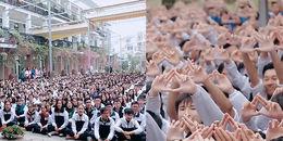 Nhìn lại khoảnh khắc xúc động hơn 3000 học sinh hát tặng thầy Văn Như Cương