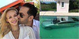Bị bồ bỏ, cô gái trả thù bằng cách không thể hiểm hơn: Dìm thẳng xe hơi tiền tỉ xuống hồ bơi