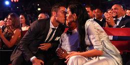 Đập tan tin đồn rạn nứt, Ronaldo say đắm cùng Georgina trong lễ nhận giải The Best