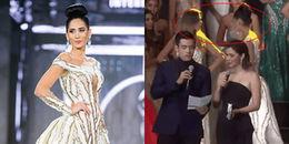 Hoa hậu Bolivia quay lưng bỏ đi ngay lúc MC công bố kết quả Miss Grand International 2017