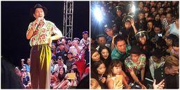 yan.vn - tin sao, ngôi sao - Khán giả chen lấn, tràn cả lên sân khấu, Trường Giang phản ứng thế nào?