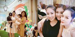 Dàn 'mẹ bỉm sữa' Vbiz nô nức dự sinh nhật 'công chúa' nhà Vân Trang và chồng đại gia