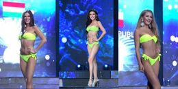 Bán kết Miss Grand International 2017: Huyền My bị MC gọi nhầm khi trình diễn biniki