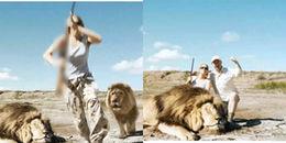 Mải chụp ảnh khoe chiến tích săn bắn, cặp vợ chồng không ngờ 'tử thần' đang lừ lừ phía sau