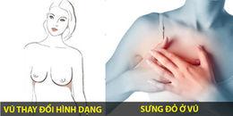 Lập tức kiểm tra và tới khám ngay ung thư vú nếu bạn có những triệu chứng dưới đây