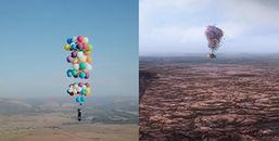 Biến phim hoạt hình thành hiện thực, người đàn ông bay dọc Nam Phi với 100 quả bóng bay
