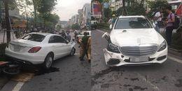 Hà Nội: Xế hộp hạng sang thành 'xe điên' đâm liên hoàn nhiều xe máy, ô tô trên phố Xã Đàn