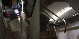 Hà Nội: Đang nằm trong nhà, 2 thanh sắt từ đâu rơi xuống khiến chủ nhà suýt mất mạng