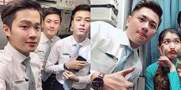Hội chị em phát sốt vì đội hình 'chuẩn soái ca' của 3 chàng tiếp viên hàng không