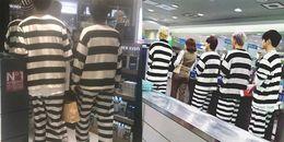 Hết hồn với thời trang mặc kiểu áo tù nhân, WINNER như bị bắt giữ tại sân bay