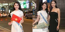 Thùy Dung mang 140kg đồ diễn dự thi Miss International