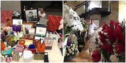 Đàm Vĩnh Hưng khoe hoa, quà sinh nhật toàn hàng hiệu chất đầy biệt thự