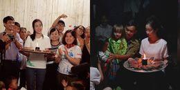 yan.vn - tin sao, ngôi sao - Đỗ Mỹ Linh đón sinh nhật cùng bà con vùng lũ Yên Bái với chiếc bánh kem độc đáo