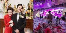 Những hình ảnh hiếm hoi về không gian tiệc cưới của Hoa hậu Đặng Thu Thảo và chồng đại gia